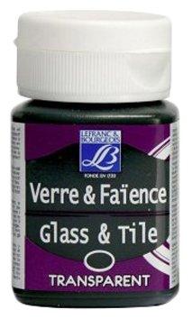 Краски LEFRANC & BOURGEOIS Glass & Tile Transparent 535 Зеленый кипарис LF210916 1 цв. (50 мл.)