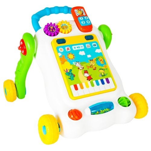 Каталка-ходунки Жирафики Игровой центр (939541) белый/зеленый/желтыйКаталки и качалки<br>