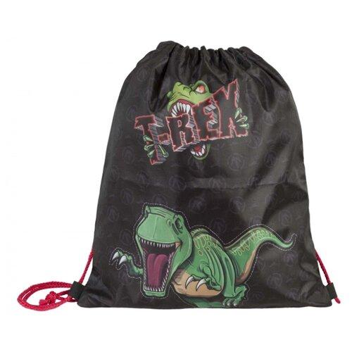 Target Сумка для детской сменной обуви Динозавр Тирекс (17922) черный/зеленыйМешки для обуви и формы<br>