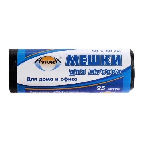 Мешки для мусора Aviora 106-017 30 л (25 шт.) черныйМешки для мусора<br>