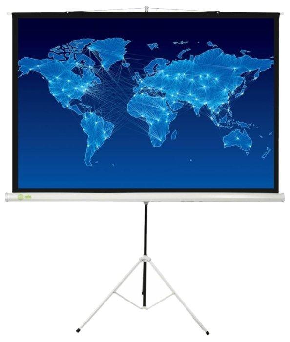 Рулонный матовый белый экран cactus Triscreen CS-PST-150x150