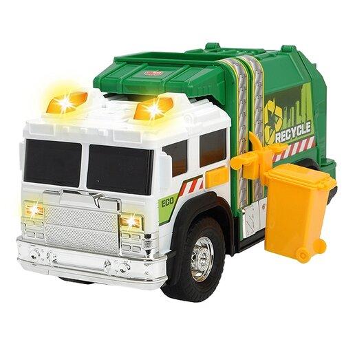 Мусоровоз Dickie Toys 3306006, 30 см, зеленый/белый машина dickie мусоровоз 30 см