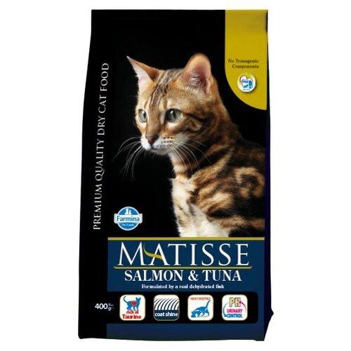 Корм для кошек Farmina Matisse с лососем, с тунцом 400 г корм консервированный для кошек farmina matisse мусс с ягненком 85 г
