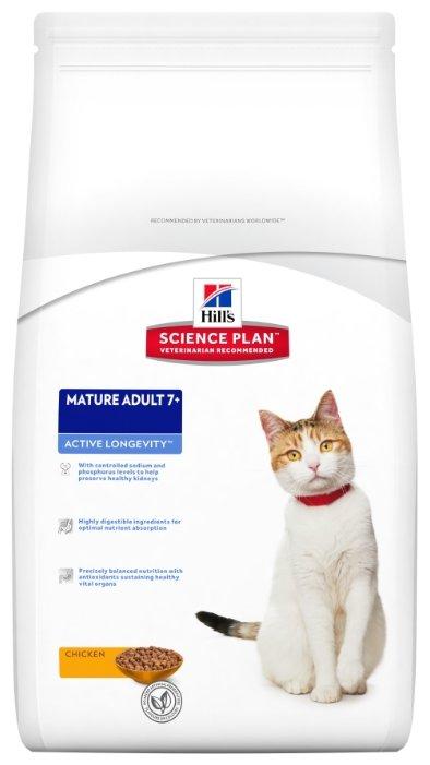 Корм для пожилых кошек Hill's Science Plan с курицей