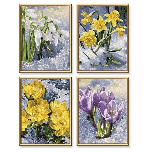Schipper Картины по номерам Весеннее пробуждение цветов 18х24 см, 4 шт (9340713)
