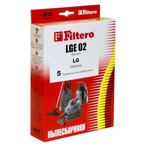Filtero Мешки-пылесборники LGE 02 Standard 5 шт.Аксессуары для пылесосов<br>