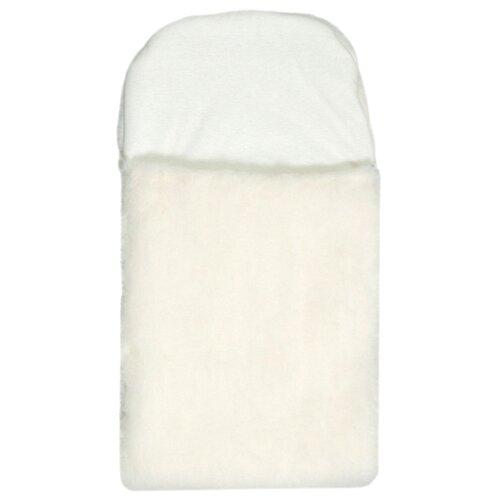 Купить Вкладыш Сонный Гномик меховой вкладыш в конверт на выписку 65 см молочный, Конверты и спальные мешки