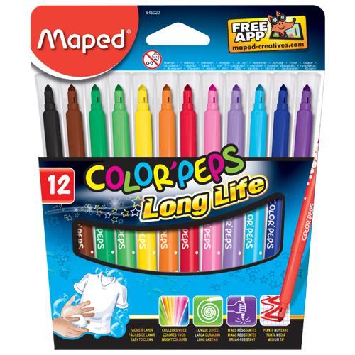 Купить Maped Фломастеры Color'Peps Long Life 12 шт. (845020)