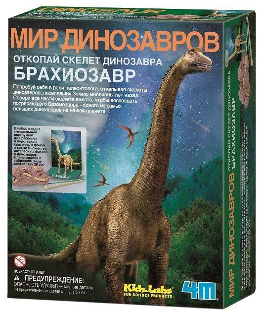 Набор для раскопок 4M Откопай скелет динозавра. Брахиозавр