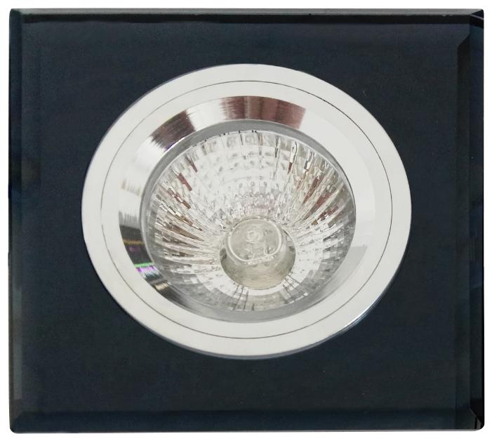 Встраиваемый светильник De Fran FT 848x1 MS b, зеркальный / черный / серебро