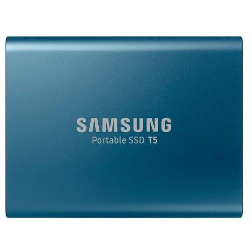 Фото - Внешний SSD Samsung T5 500 GB, синий внешний ssd hp p500 500gb 7pd54aa 500 gb синий