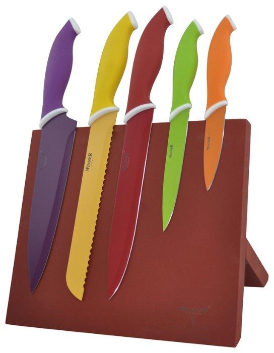 Набор Winner WR-7329 5 ножей с подставкой
