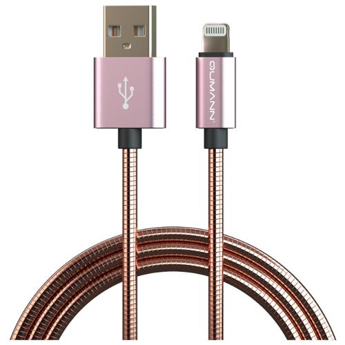 Кабель Qumann USB - Lightning 1 м розовое золото