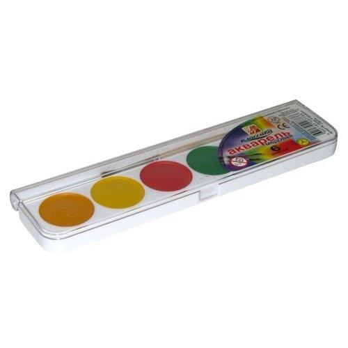 Купить Луч Акварельные краски Классика 6 цветов, с кистью (19С 1283-08), Краски