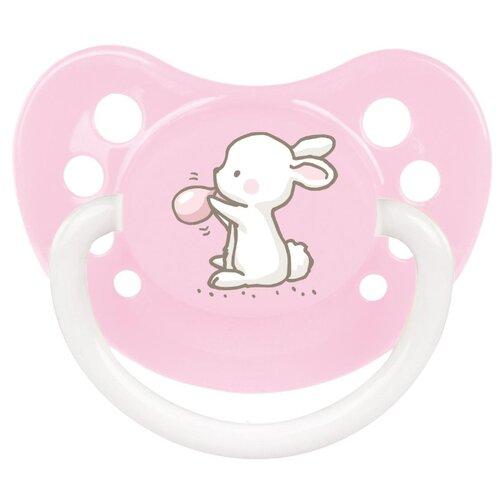 Купить Пустышка силиконовая анатомическая Canpol Babies Little cuties 0-6 м (1 шт) розовый, Пустышки и аксессуары