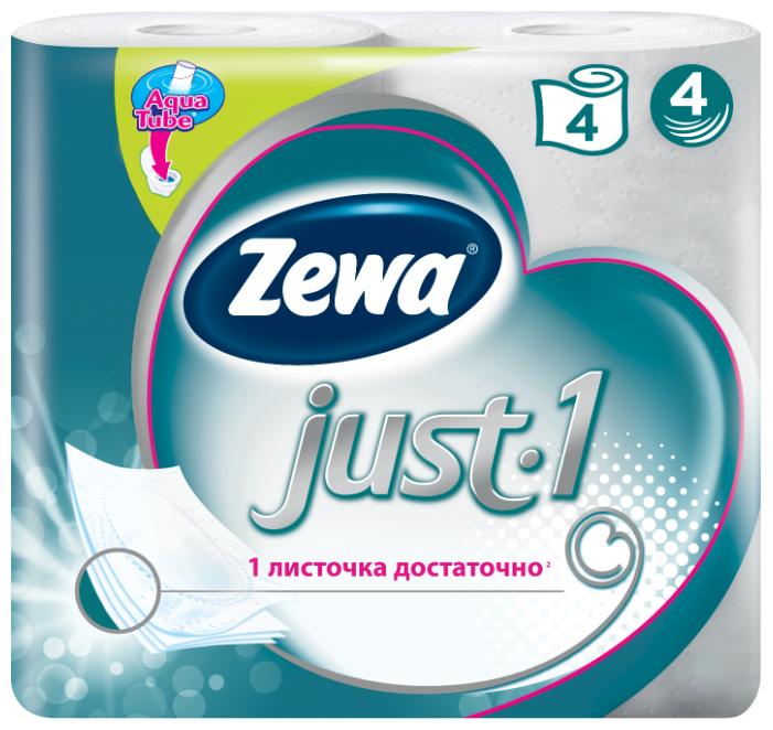 Туалетная бумага Zewa Just1 четырёхслойная, 4 рул.