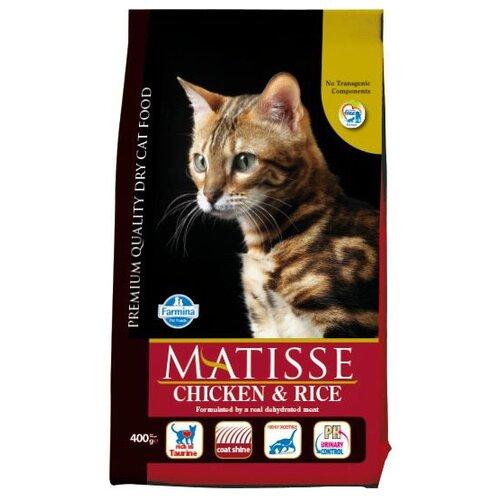 Корм для кошек Farmina Matisse с курицей и с рисом 400 г корм консервированный для кошек farmina matisse мусс с ягненком 85 г