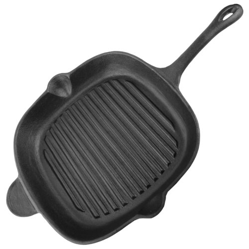 Сковорода-гриль Mallony Padella 28x28 см, черныйСковороды и сотейники<br>