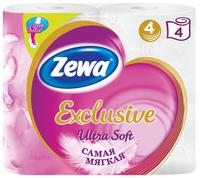 Туалетная бумага Zewa Exclusive Ultra Soft четырёхслойная