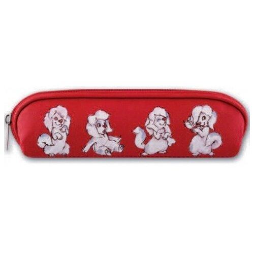 Купить Феникс+ Пенал-косметичка Собачка на красном (44112) красный/белый, Пеналы
