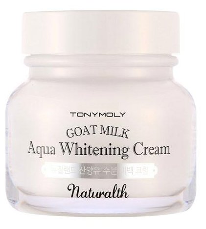 TONY MOLY Naturalth Goat Milk Aqua Whitening Cream Крем осветляющий для лица на основе козьего молока