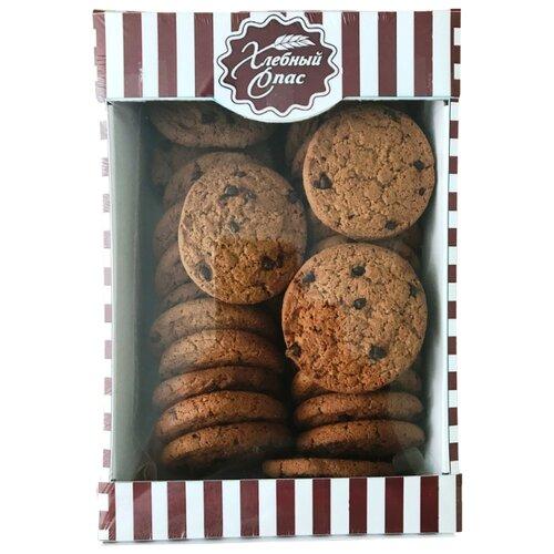 Печенье Хлебный Спас овсяное с кусочками шоколада, 500 г гарнец толокно овсяное 500 г