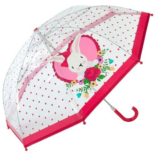 Зонт Mary Poppins прозрачный/красный