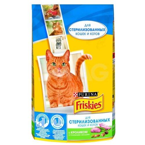 Сухой корм для стерилизованных кошек Friskies с кроликом, с овощами 1.5 кг