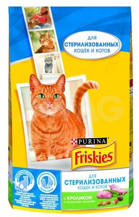 Купить Корм для стерилизованных кошек Friskies с кроликом, с овощами 1.5 кг по низкой цене с доставкой из Яндекс.Маркета (бывший Беру)