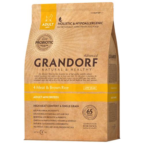 Корм для собак Grandorf (1 кг) 4 Meat & Brown Rice Мини takasago brown rice шампунь