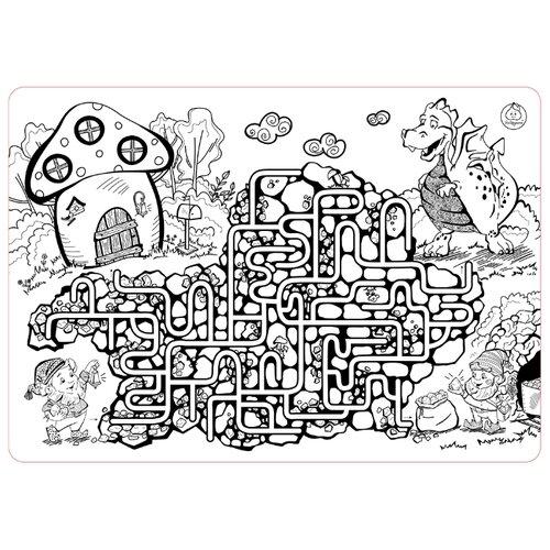 Купить ЯиГрушка Коврик-раскраска Лабиринт (большой), Раскраски