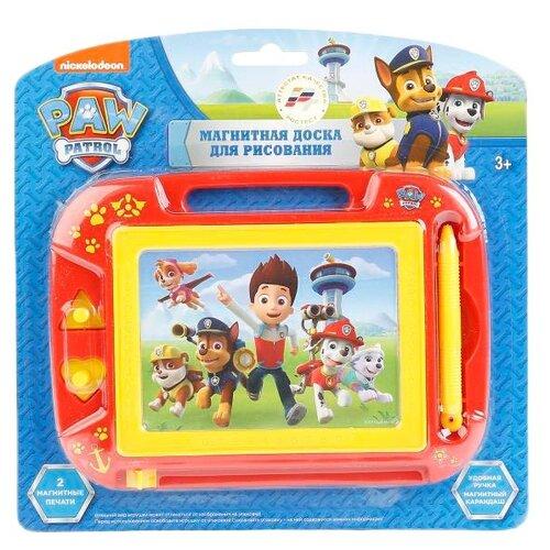 Купить Доска для рисования детская Играем вместе Щенячий патруль (HS8006KPP) красный/желтый, Доски и мольберты