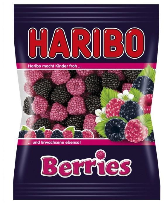 Жевательный мармелад Haribo Ягоды со вкусом фруктов, в посыпке нонпарель Berries 100г