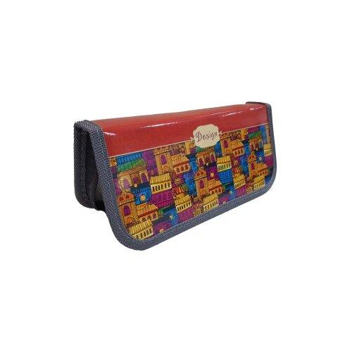 Prof-Press Пенал Сказочный городок (ПН-0160) синий/красный/желтый prof press пенал красная лилия