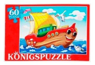 Пазл Рыжий кот Konigspuzzle Кораблик (ПК60-7169), 60 дет.