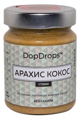 DopDrops Паста ореховая Арахис Кокос (стевия) стекло