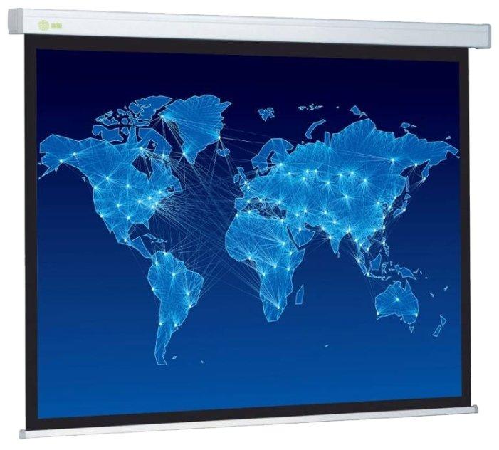 Рулонный матовый белый экран cactus Wallscreen CS-PSW-149x265