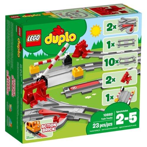 Конструктор LEGO Duplo 10882 Рельсы и стрелки lego lego конструктор lego city trains 60205 рельсы