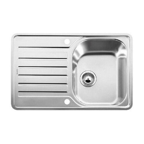 Купить со скидкой Интегрированная кухонная мойка 76.8 см Blanco Lantos 45S-IF 519059 нержавеющая сталь