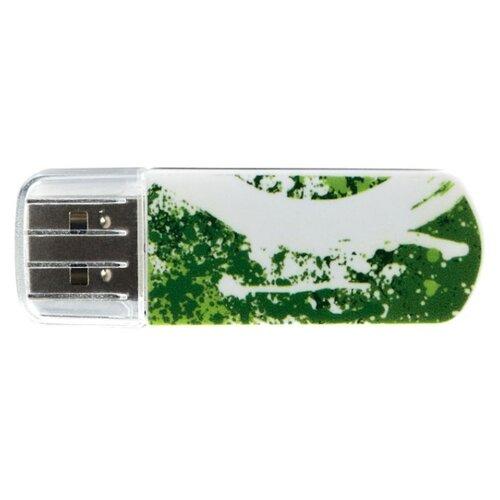 Флешка Verbatim Store 'n' Go Mini USB Drive 32GB белый/зеленый