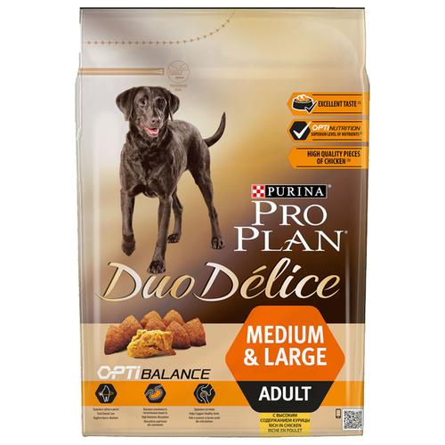 Корм для собак Purina Pro Plan (2.5 кг) Duo Delice Adult сanine rich in Chicken with Rice dryКорма для собак<br>