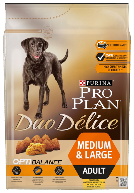 Корм для собак Purina Pro Plan Duo Delice Adult сanine rich in Chicken with Rice dry