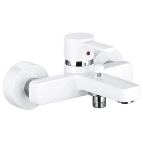 Смеситель для ванны с душем KLUDI Zenta 38670 однорычажный двухцветный белый/хром смеситель для ванны с душем kludi zenta 35101 0538 двухрычажный с термостатом хром