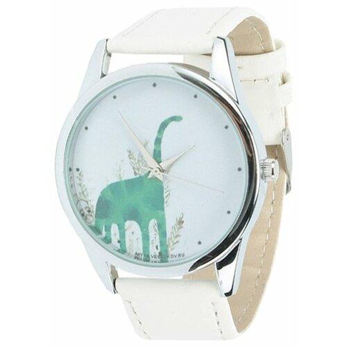 Наручные часы Mitya Veselkov Зеленый динозавр (White-69) часы наручные mitya veselkov обратный циферблат gold