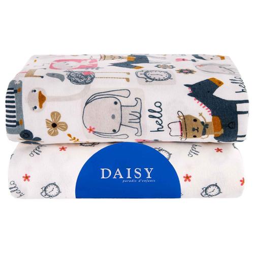 Многоразовые пеленки Daisy фланель 90х145 комплект 2 шт. лошадки