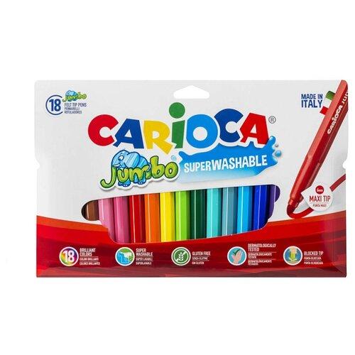 Купить Carioca Фломастеры Jumbo 18 шт. (40566), Фломастеры и маркеры