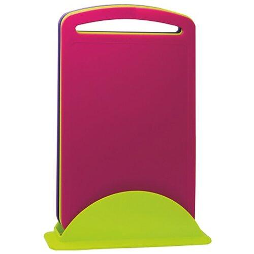 Набор разделочных досок IDEA М 1580 34х23х7,8 см (3 шт.) салатовый/фиолетовый/розовый