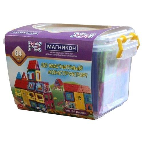 Магнитный конструктор Магникон Мастер МК-84 Дворец деревянный конструктор куби дуби дворец алладина kd00012