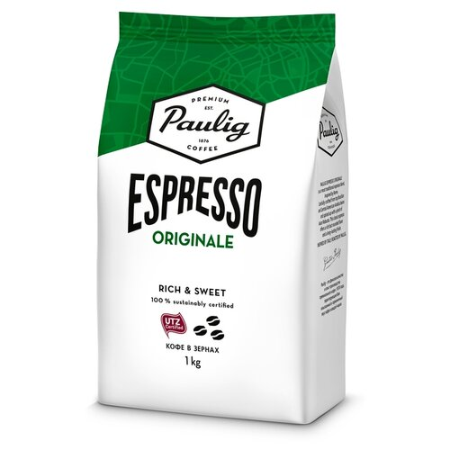 Кофе в зернах Paulig Espresso Originale, арабика/робуста, 1 кг кофе в зернах paulig arabica 250г