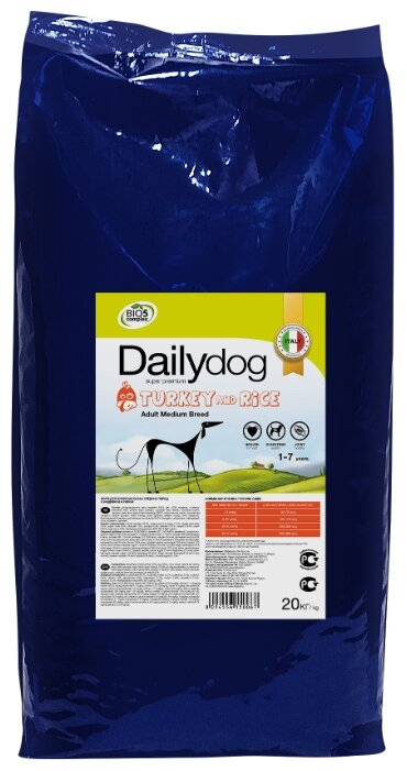 Корм для собак Dailydog Adult Medium Breed Turkey and Rice